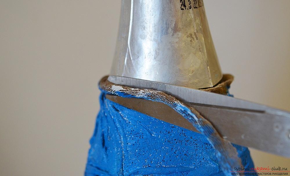 Фото к уроку по декупажу бутылки шампанского. Фото №13