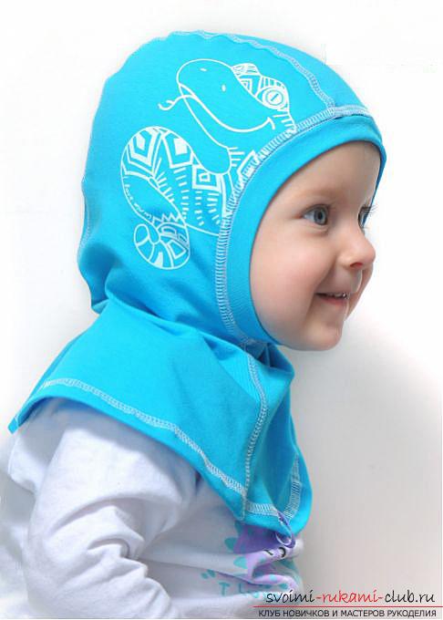 Как сшить теплую, удобную шапку шлем для ребенка по выкройке