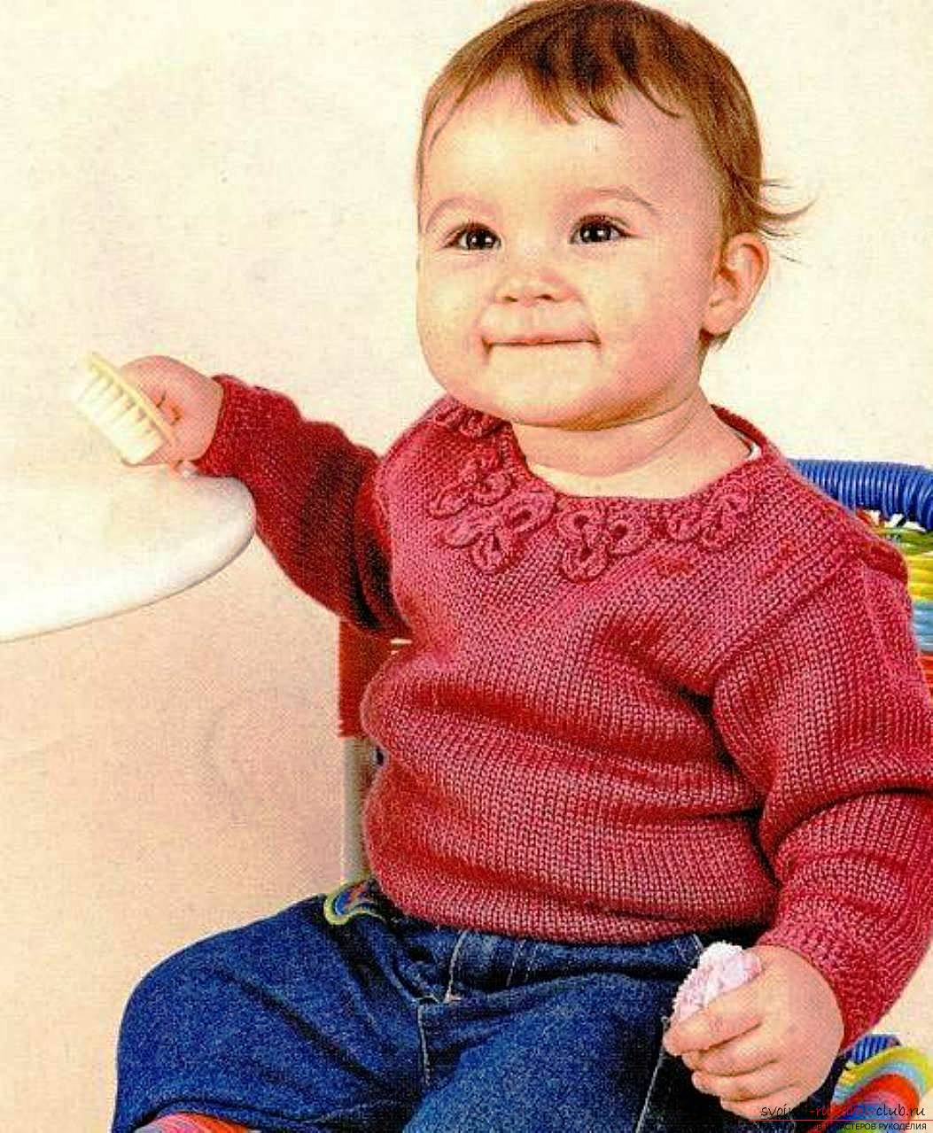 схема вязание спицами детской кофты