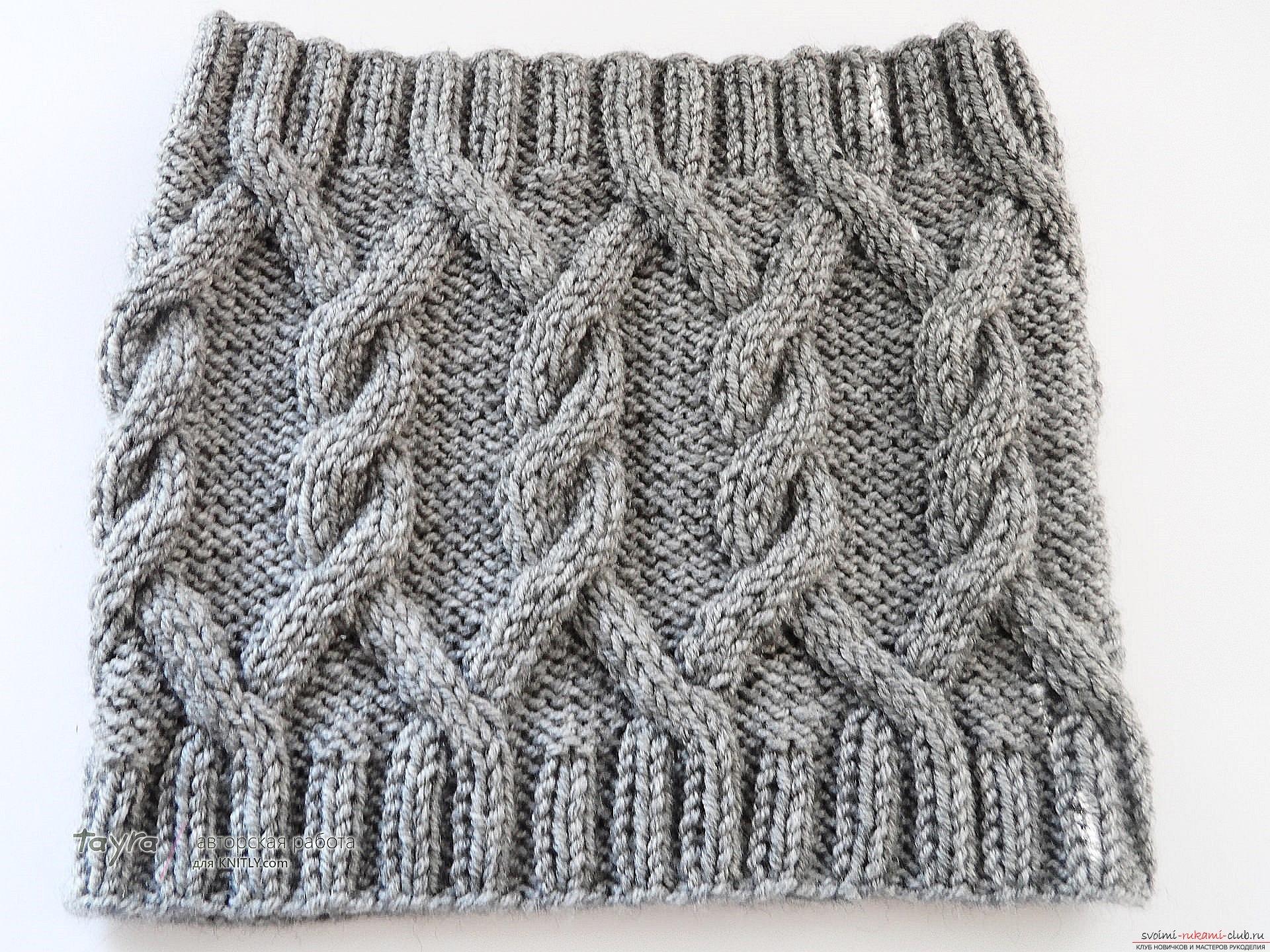 шарф-снуд схема вязания схемы и узоры
