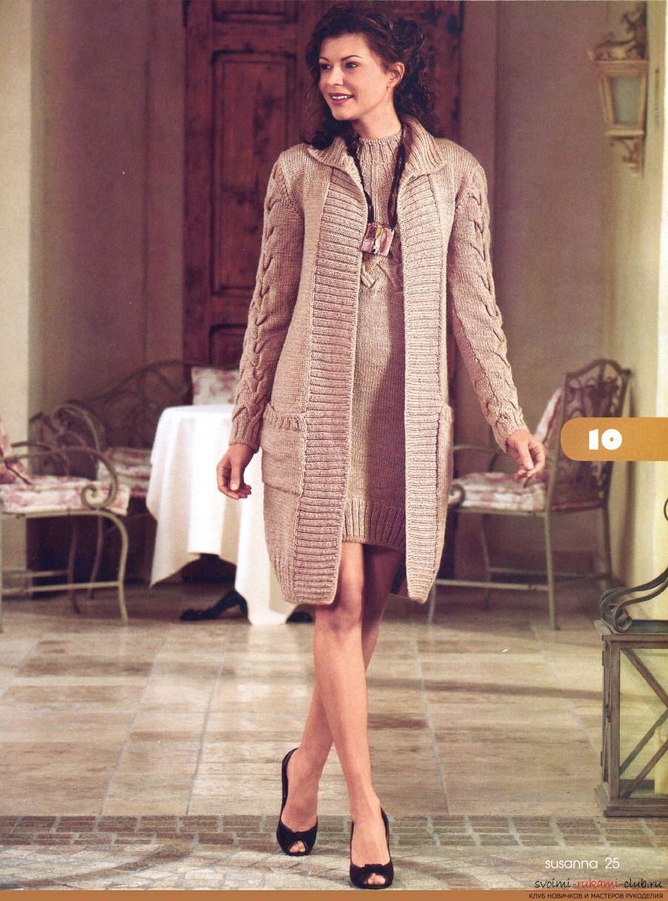 Вязать Пальто Спицами Для Женщин С Описанием