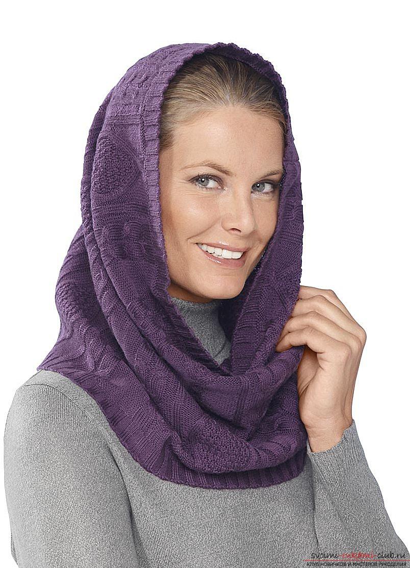 Схема вязания шарфа-трубы