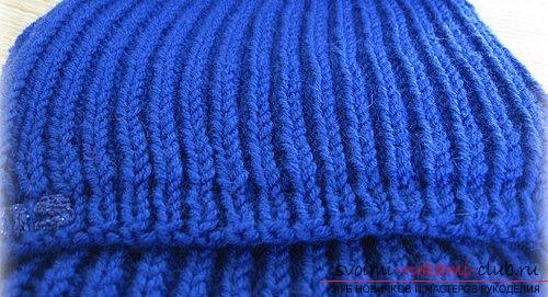 Вяжем мужской шарф английской резинкой. Фото №4