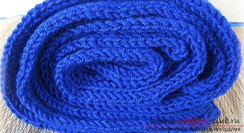 Вяжем мужской шарф английской резинкой. Фото №3
