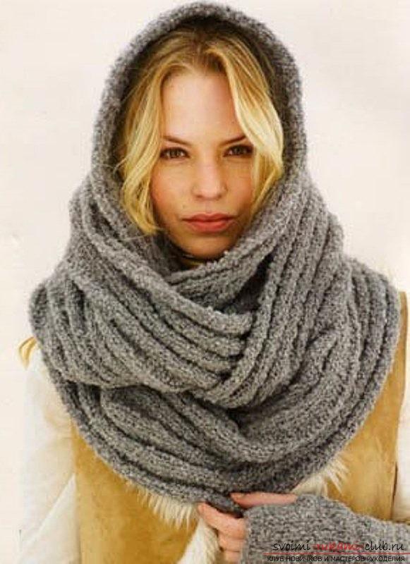 такой шарф связать спицами