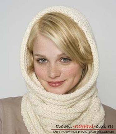 Вязаный шарф-труба. Фото №2