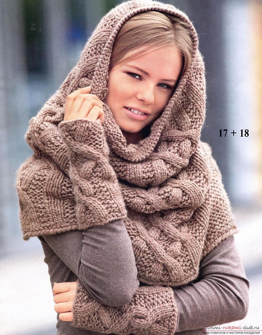 шарф хомут схема для вязания
