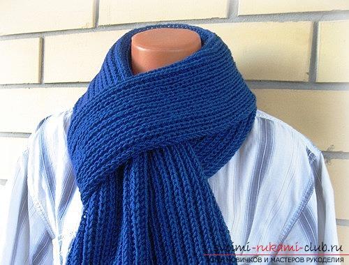 Вяжем мужской шарф английской