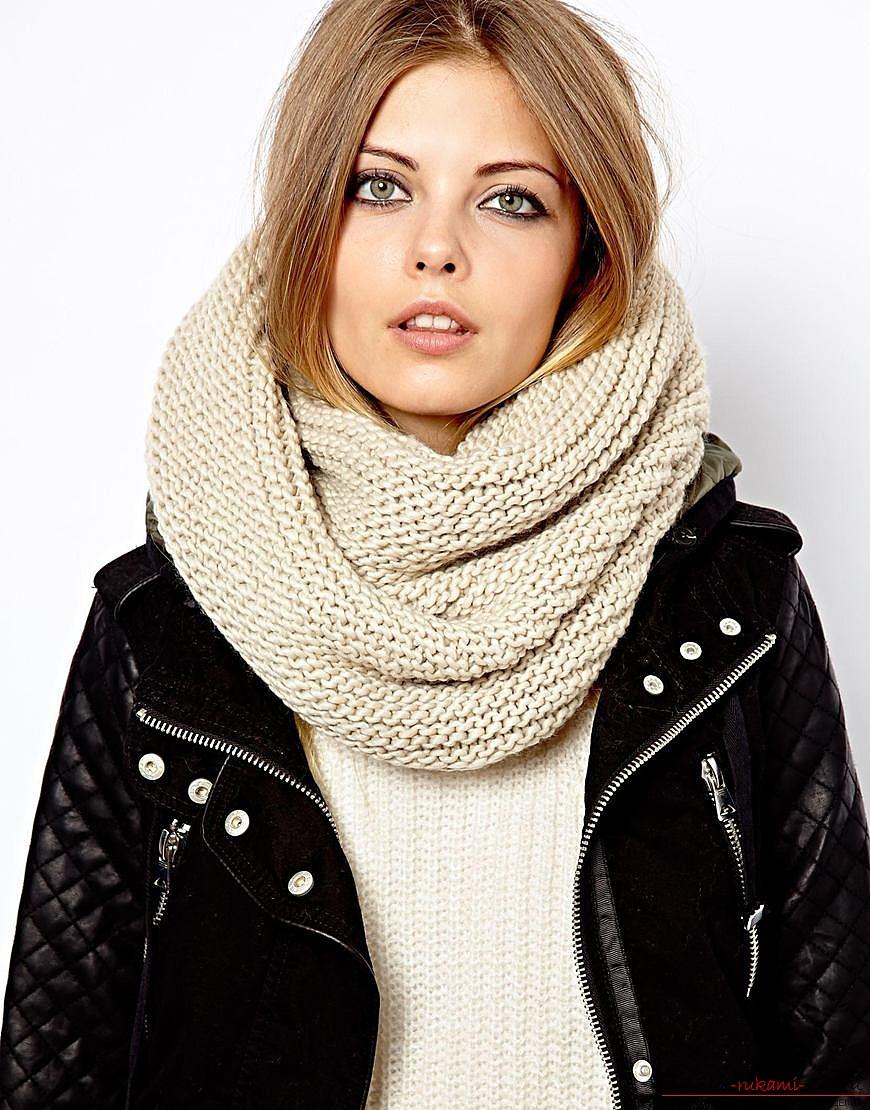 связать шарф спицами схемы