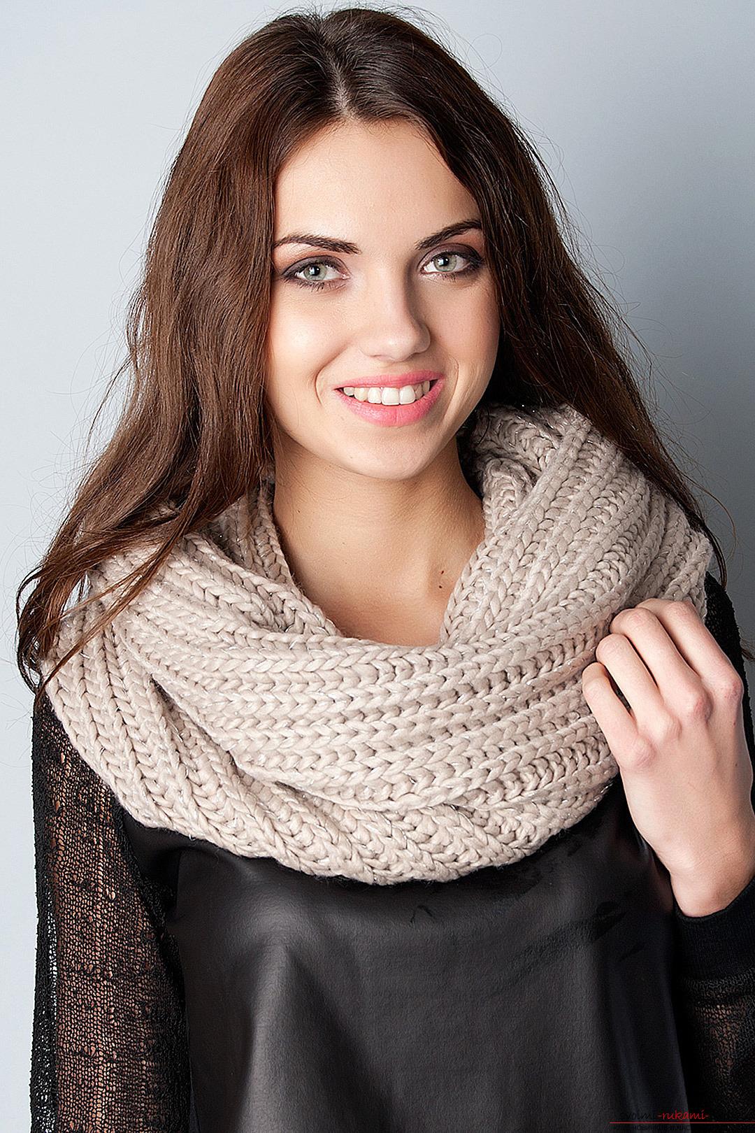 вязаные шарфы снуды фото и схемы для разных