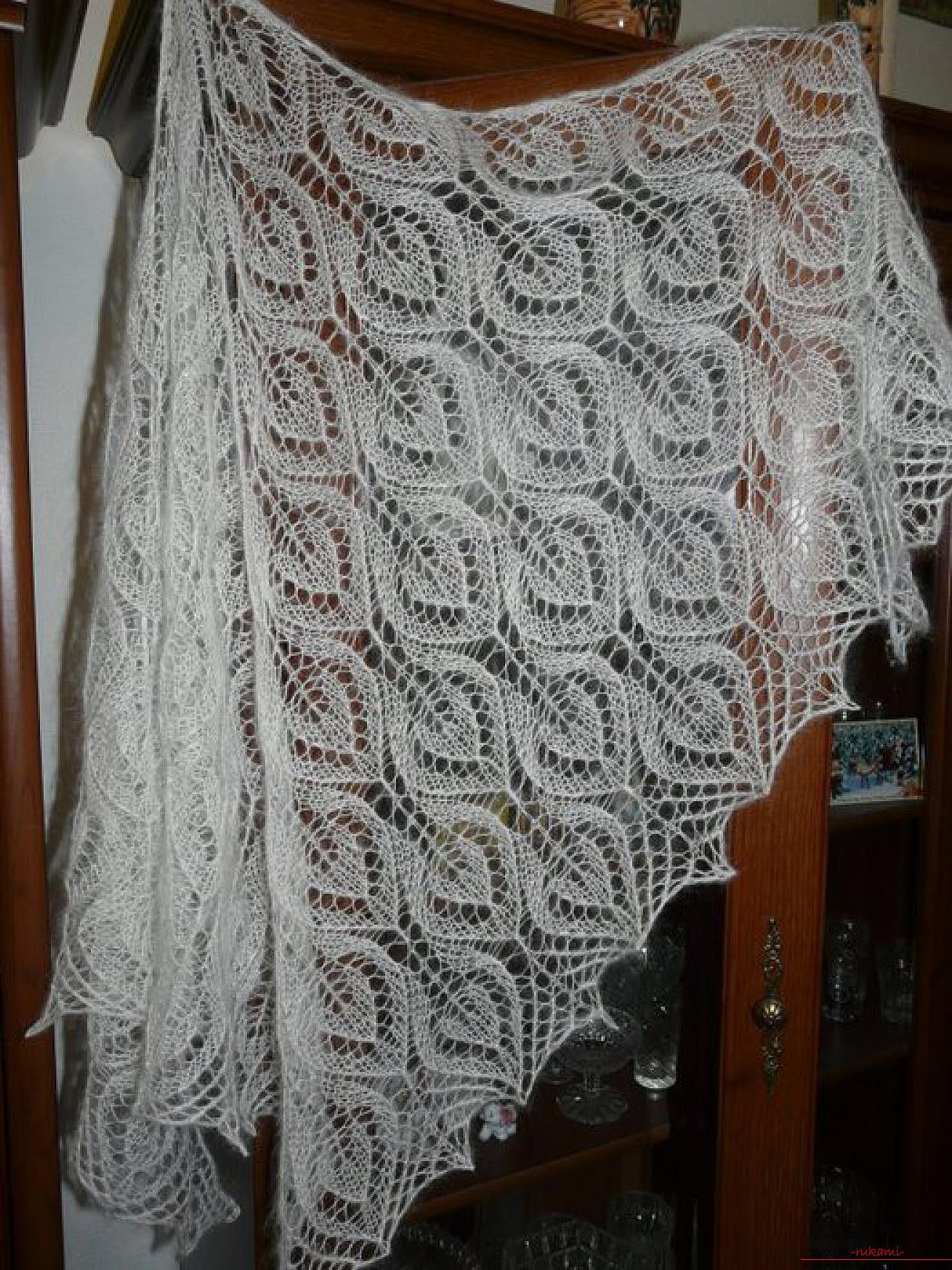 Схемы вязания шалей 22