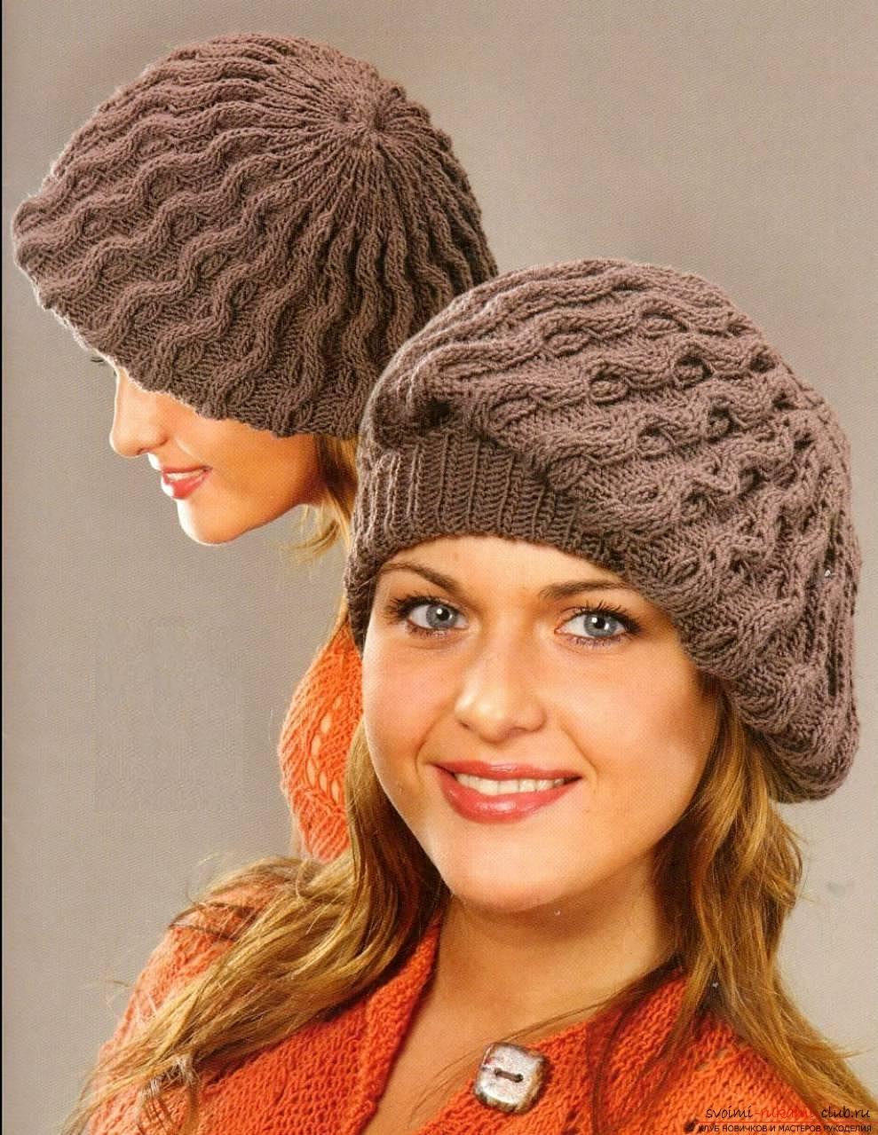 вязаные шапки женские схемы вязания