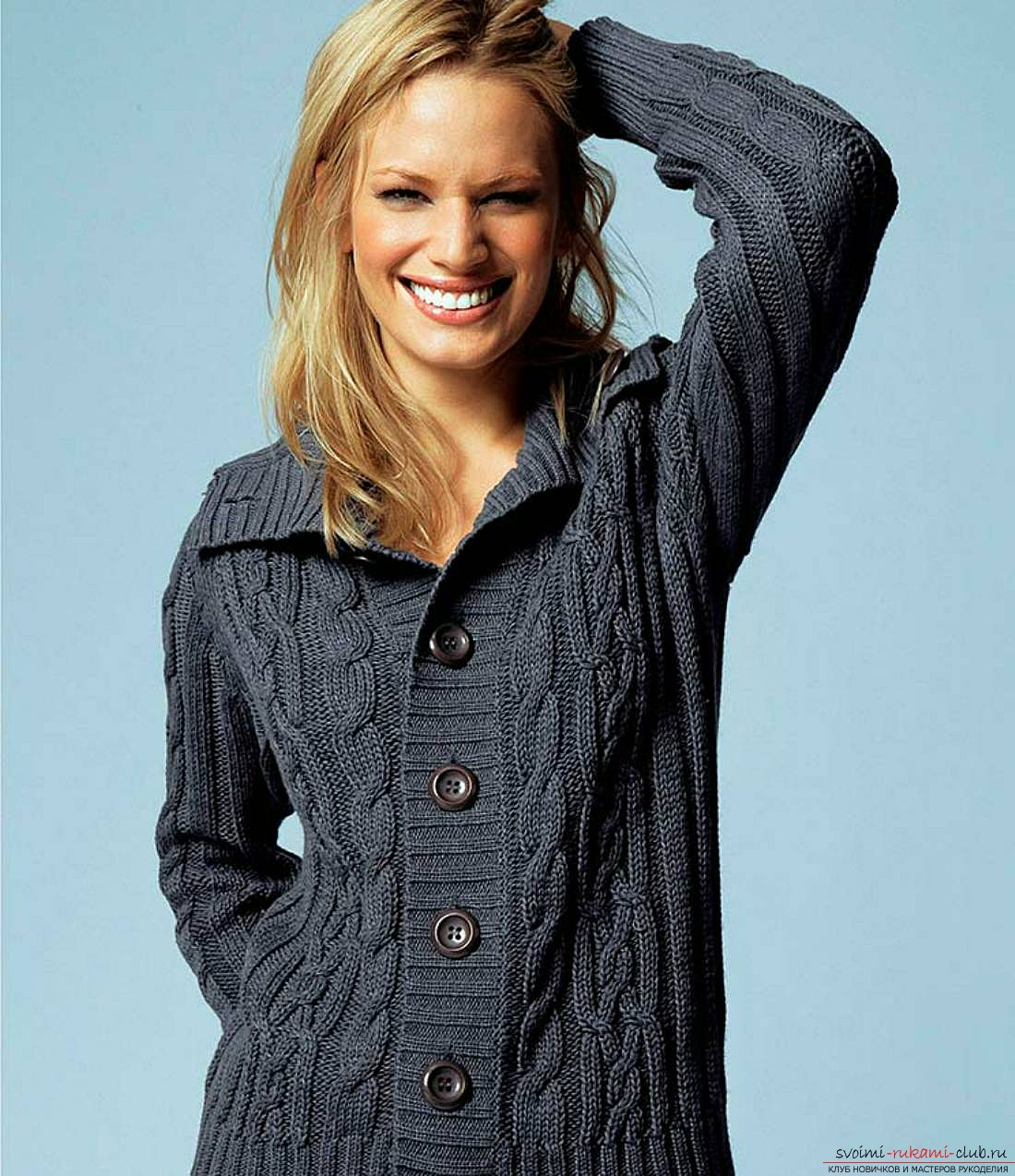 Пуловер из пряжи секционного крашения с доставкой