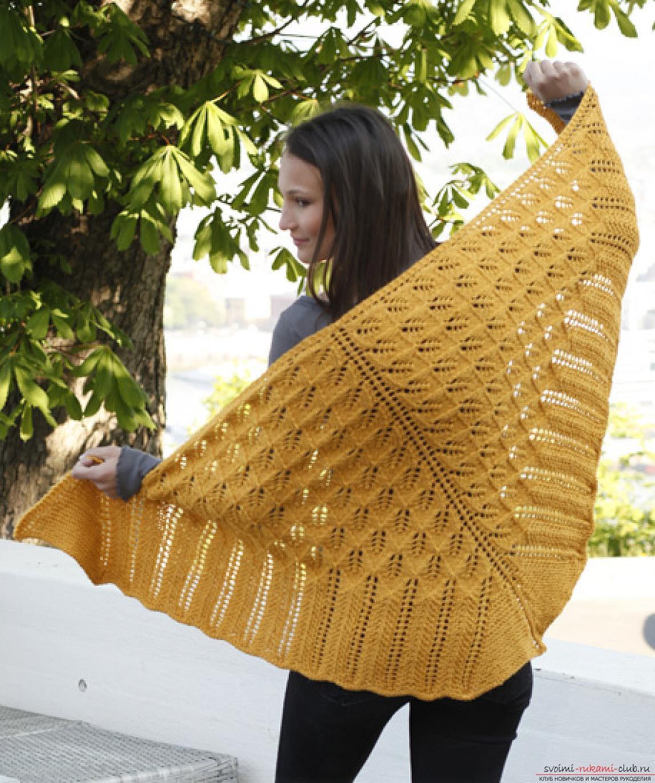 вязание спицами шалей и палантинов схемы из мохера
