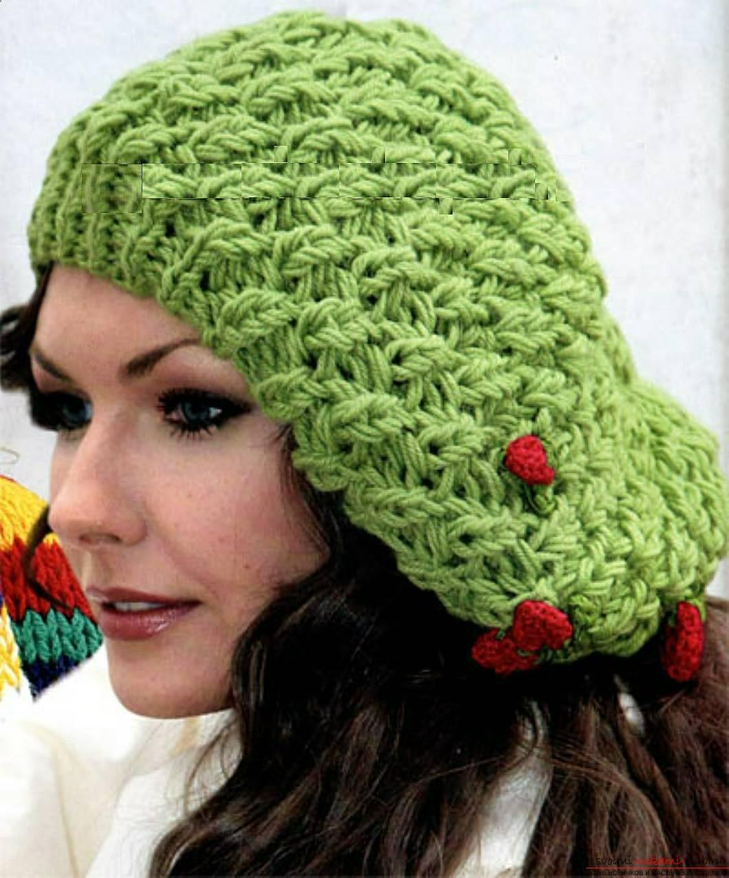 вязание спицами берета для женщин схемы 2013 год