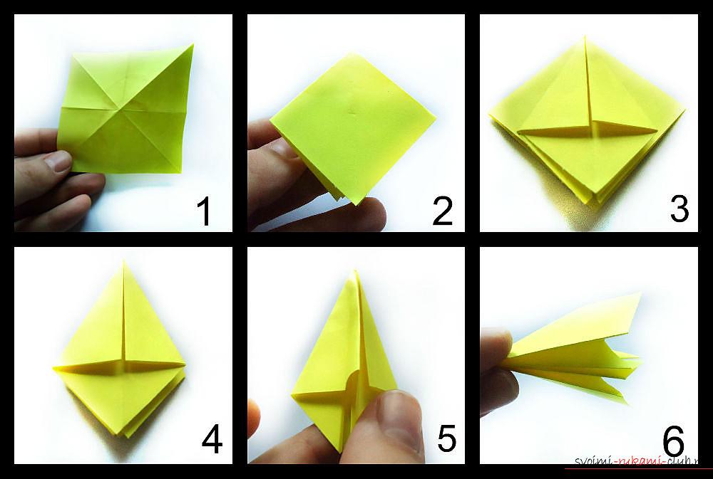 оригами нарцисса. Фото №1
