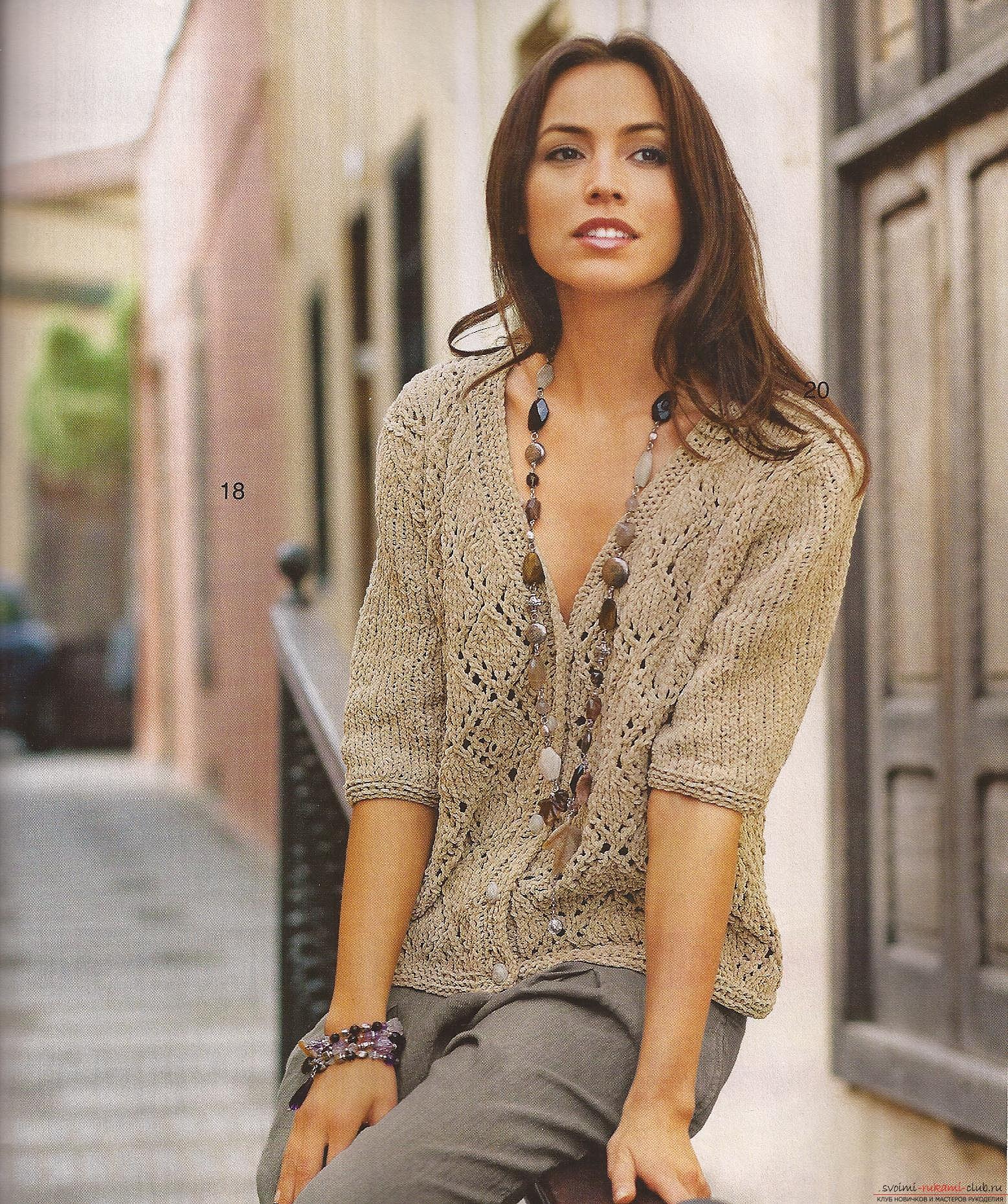 длинный женский свитер схема