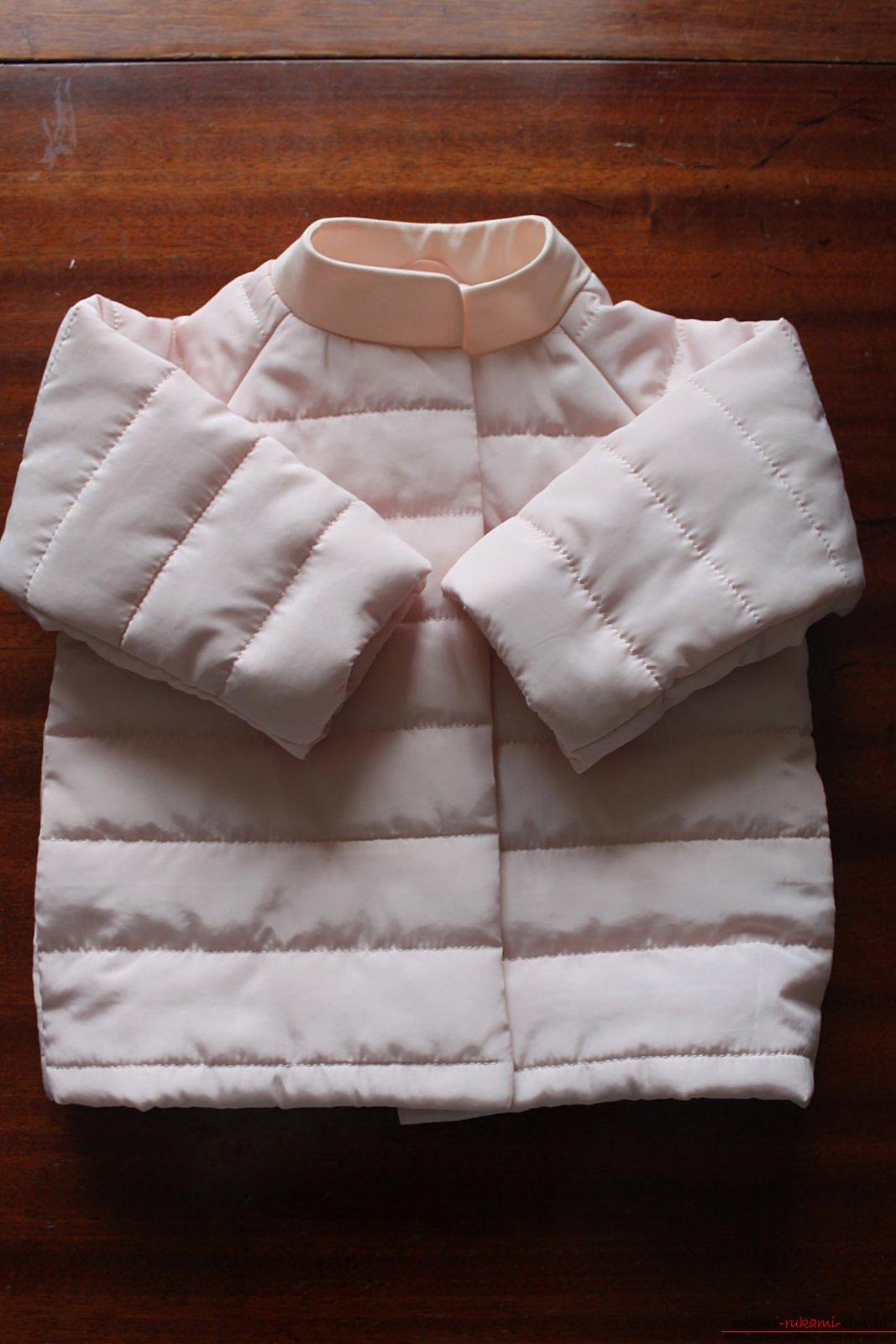 Этот мастер-класс с выкройкой одежды для девочек, фото и описанием шитья детской одежды расскажет как сшить куртки для девочек.. Фото №48