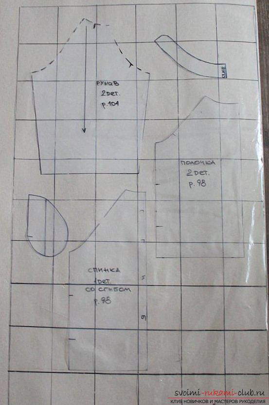 Этот мастер-класс с выкройкой одежды для девочек, фото и описанием шитья детской одежды расскажет как сшить куртки для девочек.. Фото №51