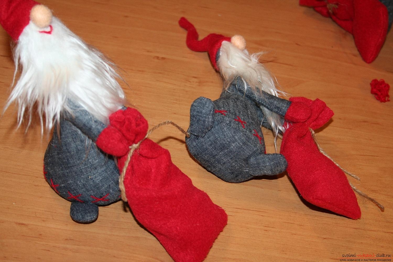 Фото у уроку по пошиву скандинавских гномиков своими руками. Фото №60