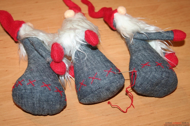 Фото у уроку по пошиву скандинавских гномиков своими руками. Фото №51