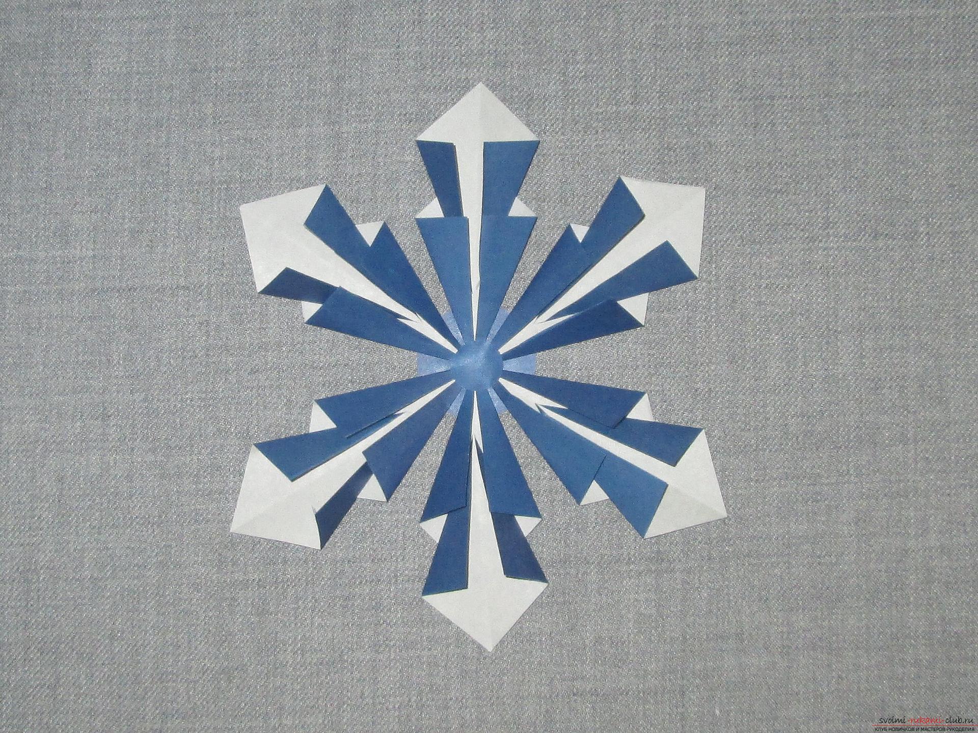 Все оригами снежинки