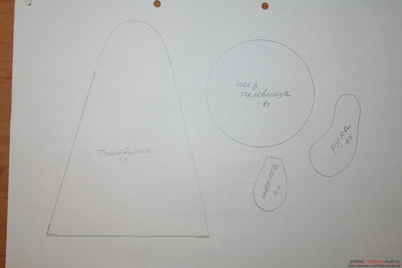 схема из бисера снеговика с метлой