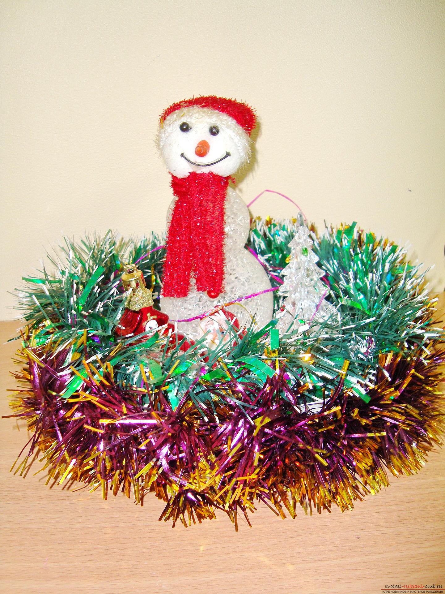 Как сделать поделку снеговика своими руками