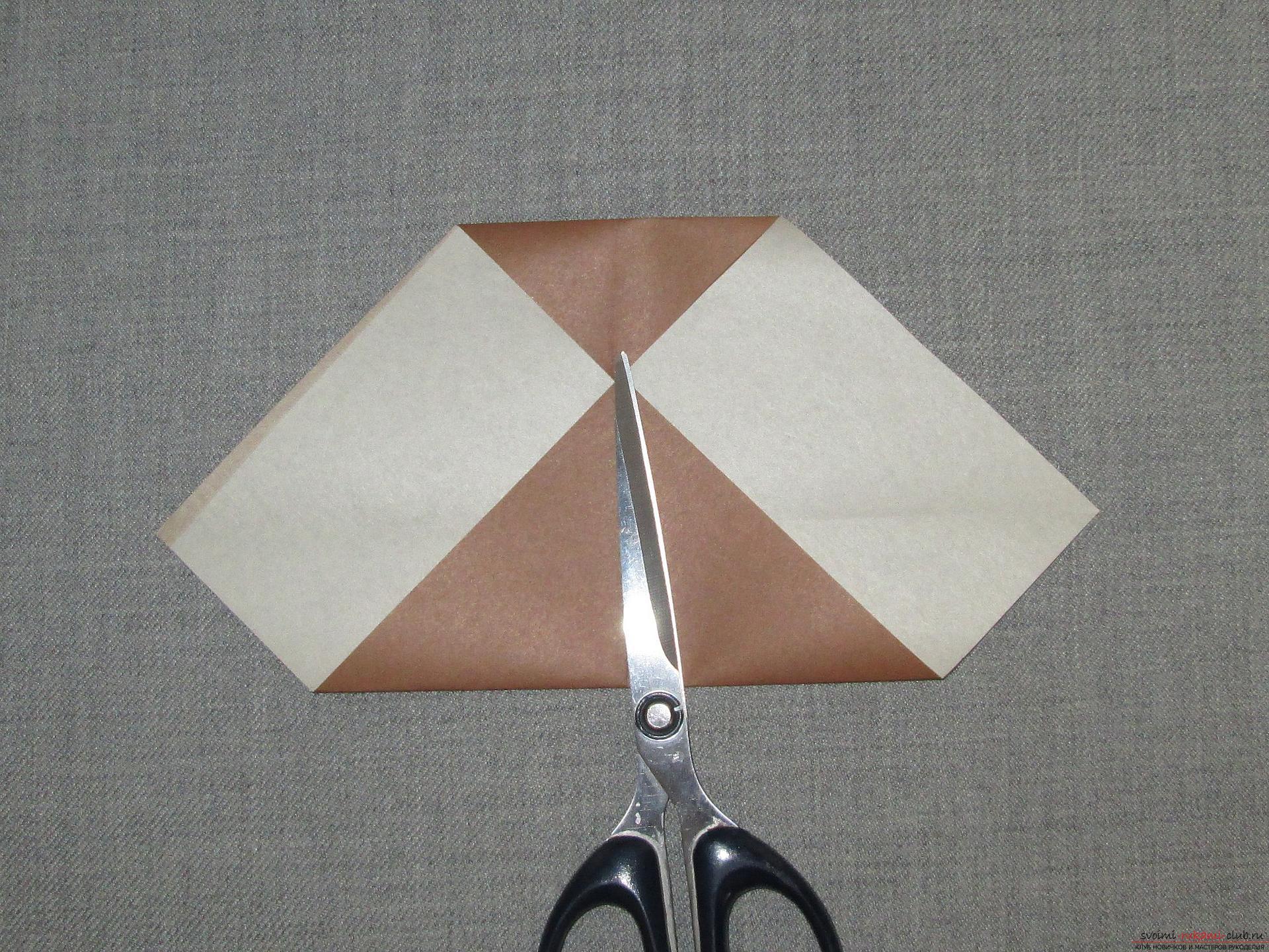 Оригами из бумаги модульный сова