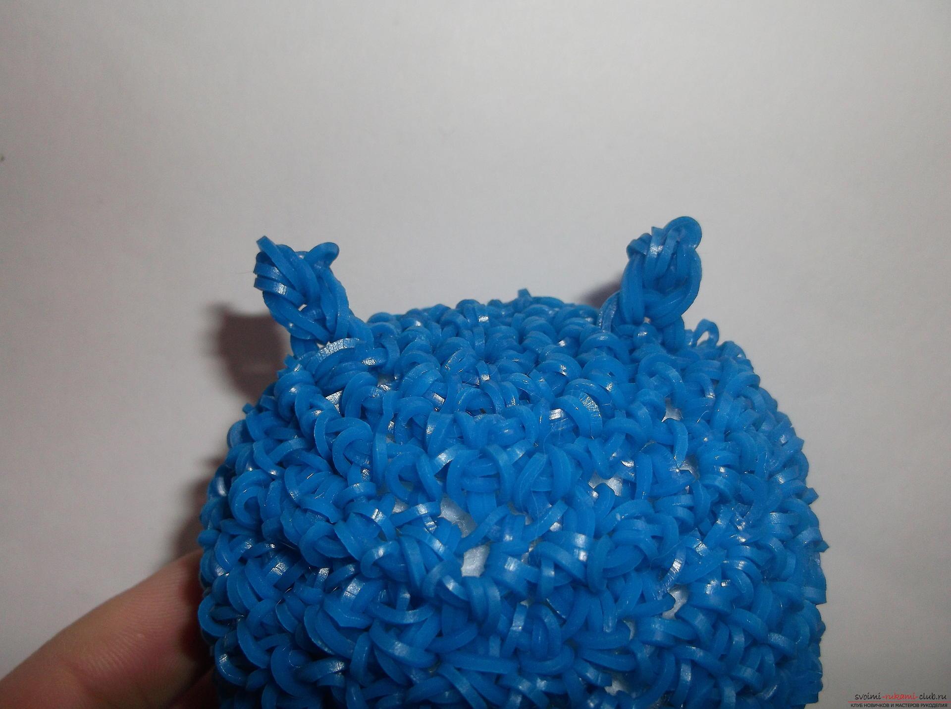 Фото к уроку по плетению забавного совенка из резиночек.</p> </div> <p> Фото №19″/> </p> <div style=