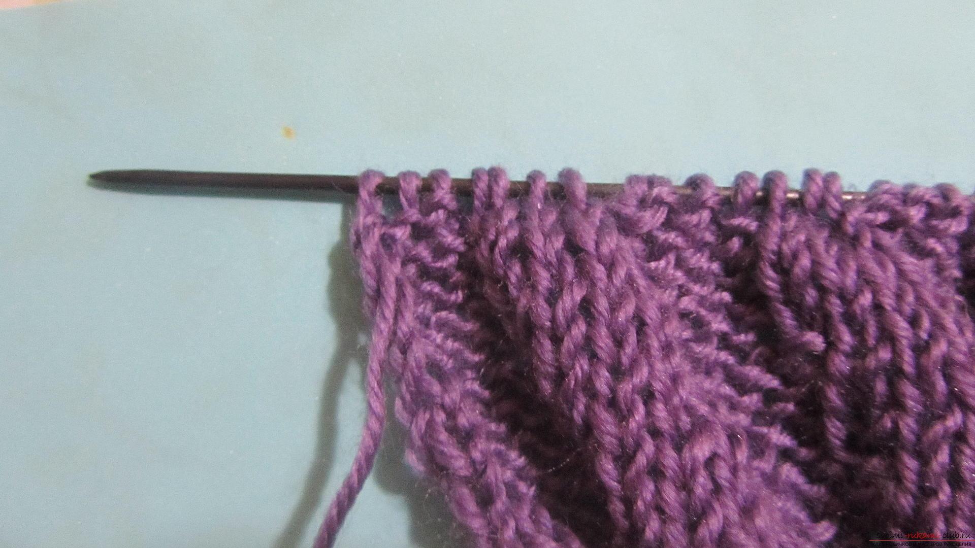 Подробный мастер-класс с фото покажет как вязать самой носки на двух спицах – спиральные носки.. Фото №17