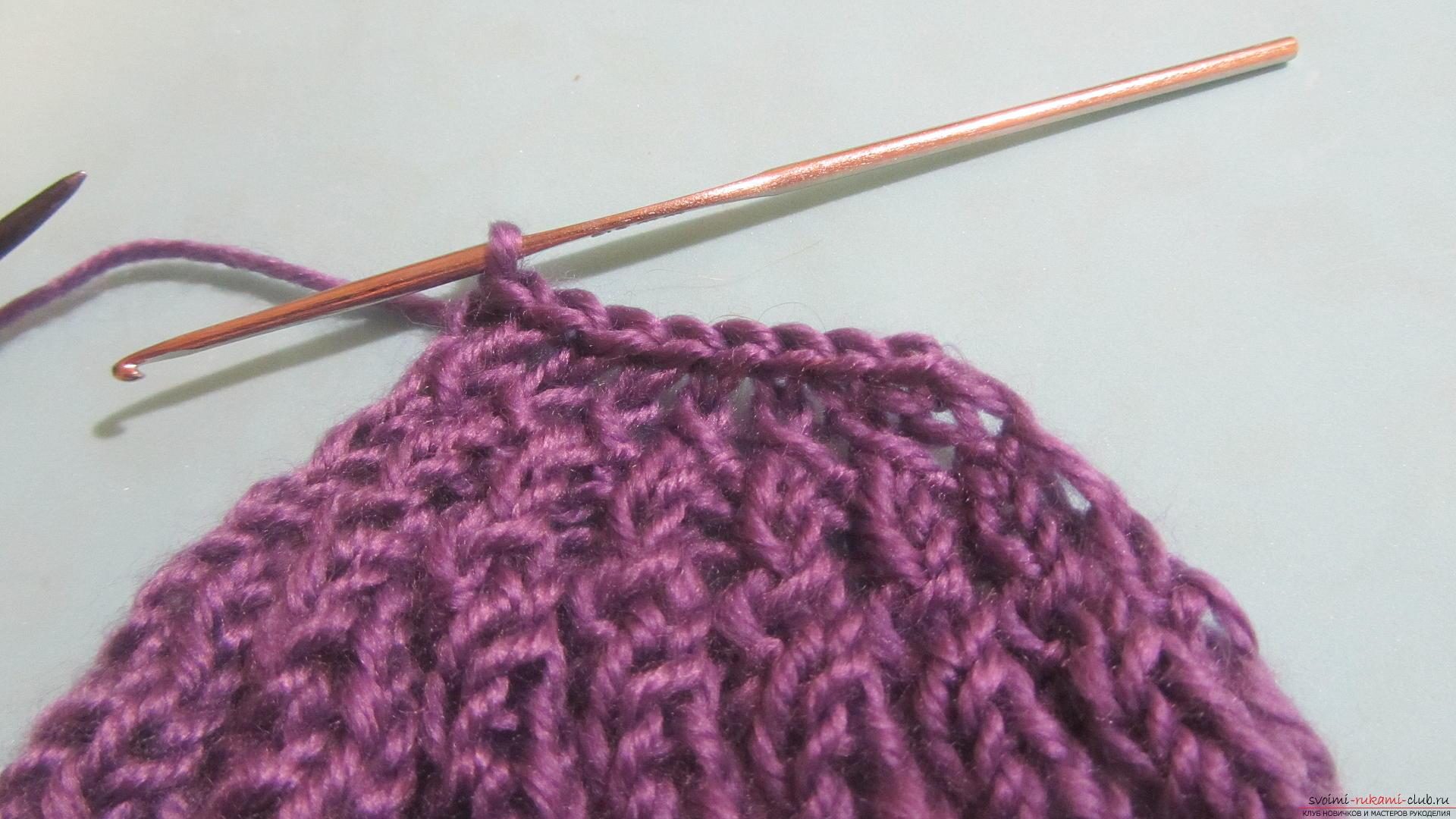 Подробный мастер-класс с фото покажет как вязать самой носки на двух спицах – спиральные носки.. Фото №21