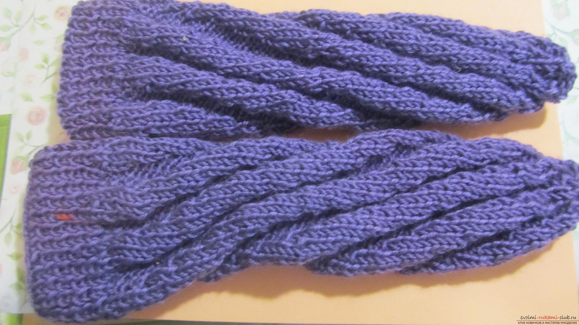 Подробный мастер-класс с фото покажет как вязать самой носки на двух спицах – спиральные носки.. Фото №26