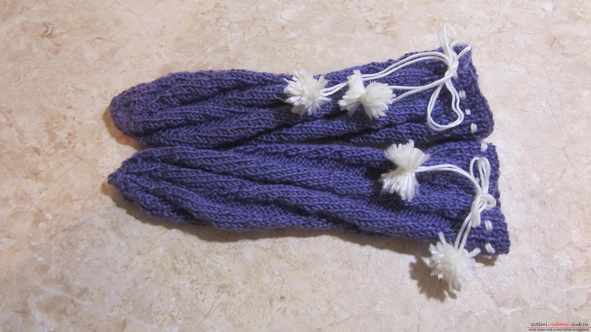 Подробный мастер-класс с фото покажет как вязать самой носки на двух спицах – спиральные носки.. Фото №1