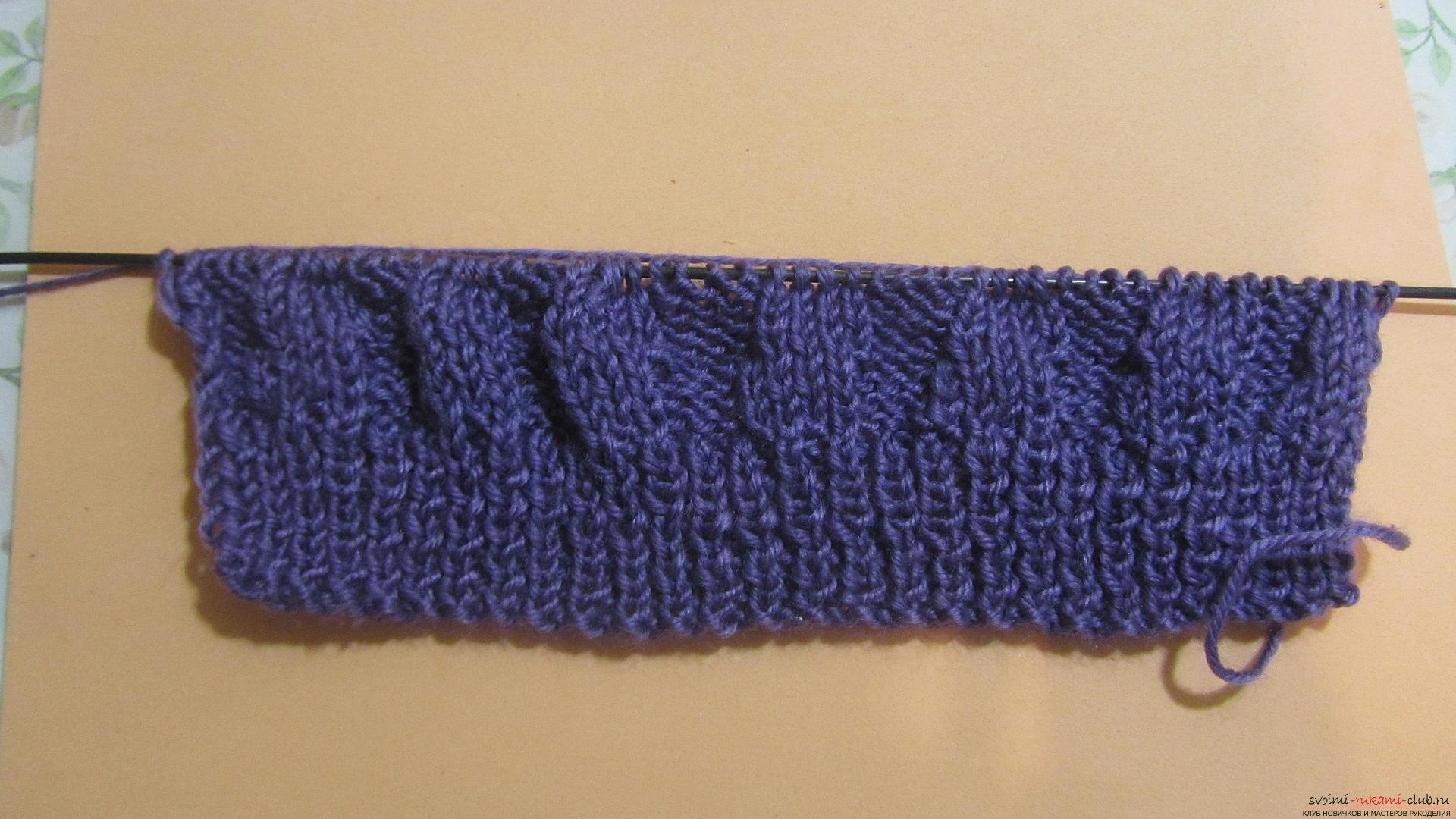 Подробный мастер-класс с фото покажет как вязать самой носки на двух спицах – спиральные носки.. Фото №8