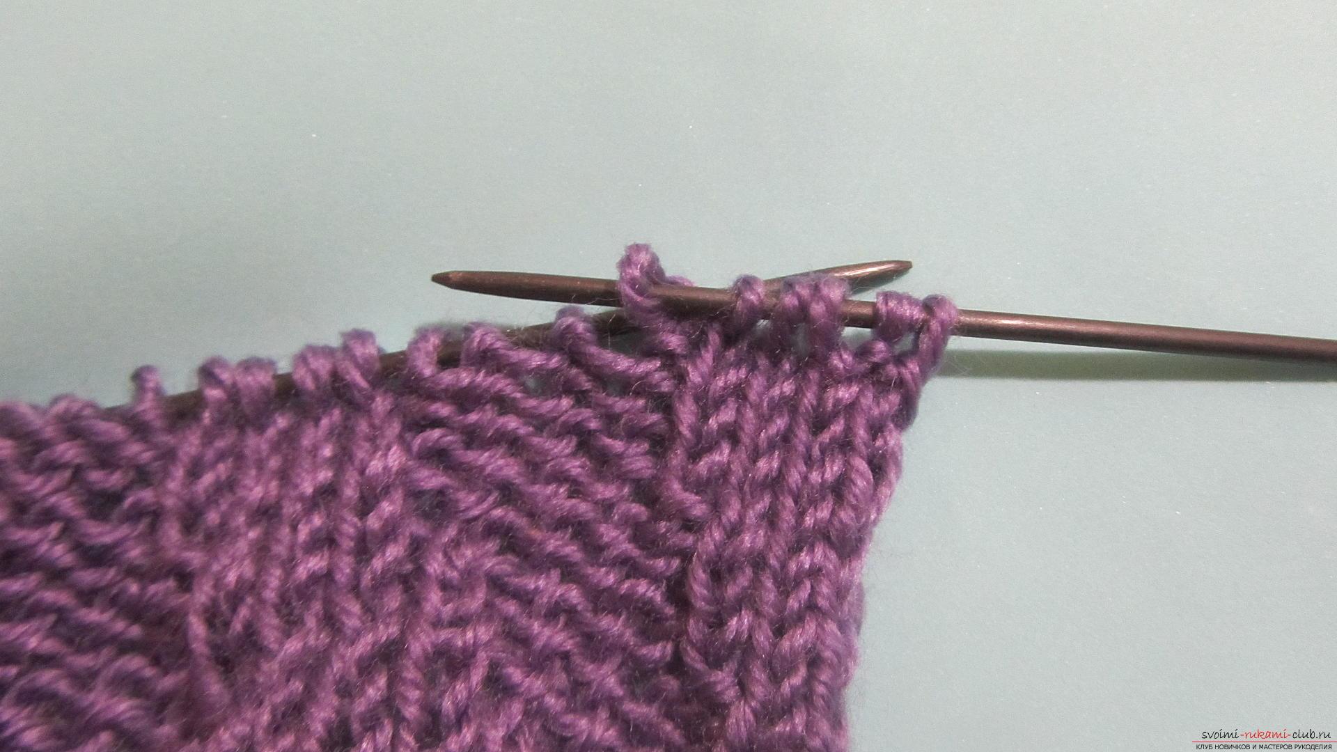 Подробный мастер-класс с фото покажет как вязать самой носки на двух спицах – спиральные носки.. Фото №11
