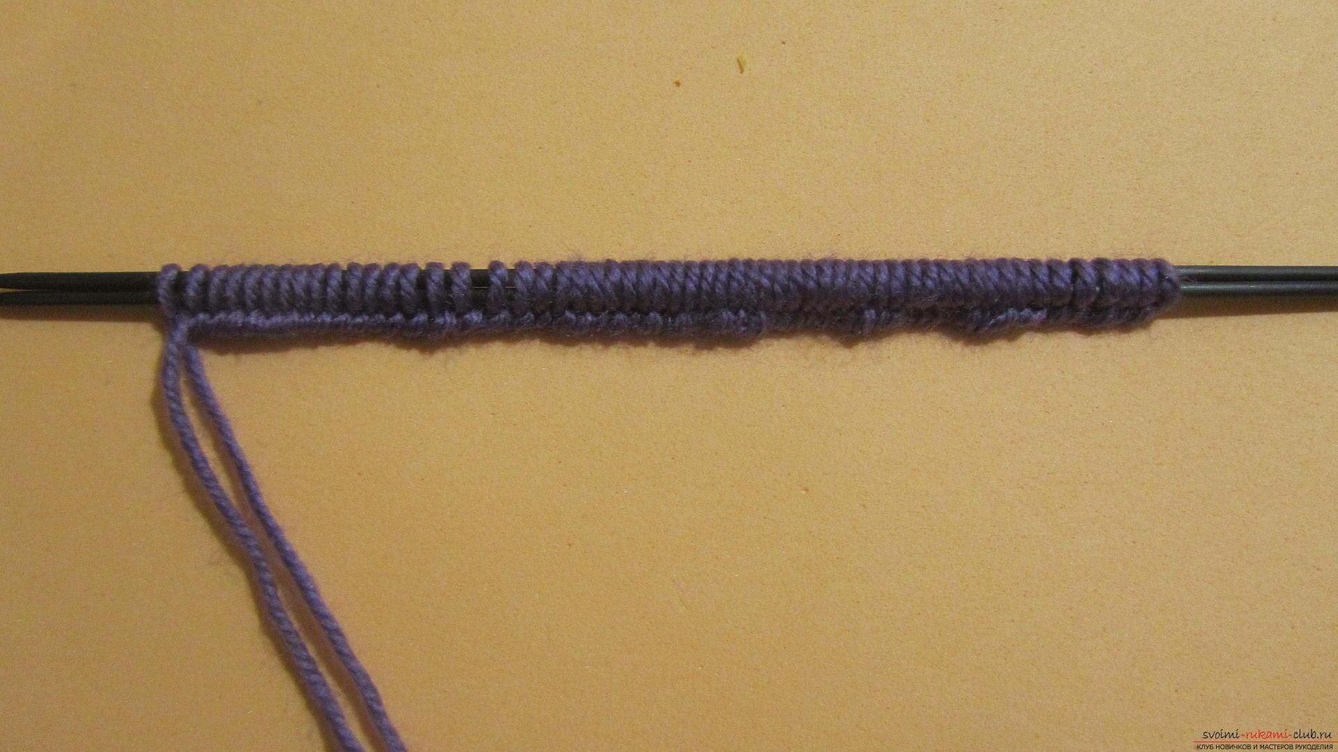 Подробный мастер-класс с фото покажет как вязать самой носки на двух спицах – спиральные носки.. Фото №2