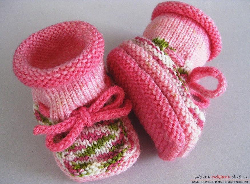 Стильные зимние пинетки для девочки. Фото №5