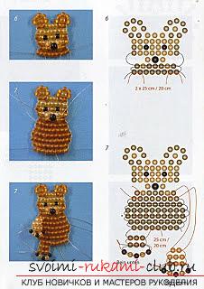 Виды разных игрушек из бисера со схемами плетения. Варианты схем плетения бисером игрушек с помощью разнообразных техник.. Фото №5