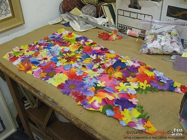 Цветы на платье своими руками из ткани для ребенка