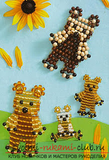 Виды разных игрушек из бисера со схемами плетения. Варианты схем плетения бисером игрушек с помощью разнообразных техник.. Фото №3