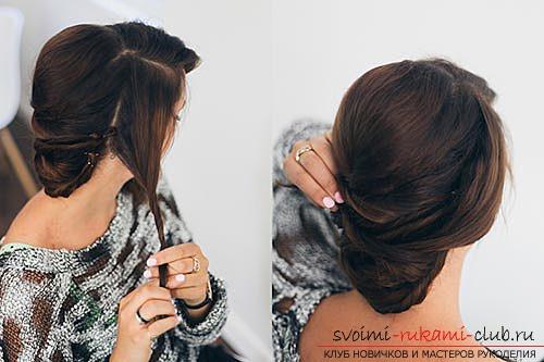 Праздничные прически своими руками можно сделать в домашних условиях.</p> </div> <p> Простые и легкие для выполнения укладки при помощи фото и описаний работы пошагово.. Фото №11″/></p> <ol> <li>Приступаем к обработке правой височной зоны. Все, заранее отделенные волосы, скручиваем одним жгутом, начиная с кончиков пряди и доходя до ее середины. Не нужно прокручивать прядь у корней, для того чтобы ее можно было уложить в виде мягкой волны. Эту прядь также закрепляем с противоположной стороны. Именно она должна скрыть собой кончики торчащих волос.</li> <li>Производим аналогичные действия с прядью левой височной зоны.</li> <li>Теперь можно приступить к декорированию прически.</li> </ol> <h2>Послесловие</h2> <p>Красивая, правильно подобранная прическа, является залогом успеха для завершения образа, в котором вы хотите предстать на предстоящем торжестве.</p> <p> В этом материале представлены <em>два варианта праздничных причесок</em>, которые вы можете сделать собственноручно, корректируя нюансы с учетом своей внешности.</p> <p> Воспользуйтесь данными рекомендациями, и вы гарантированно будете самой блистательной представительницей слабого пола на предстоящем празднике!</p> </div> <div class=