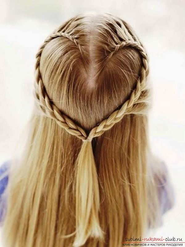 Сделать причёску девочке своими руками