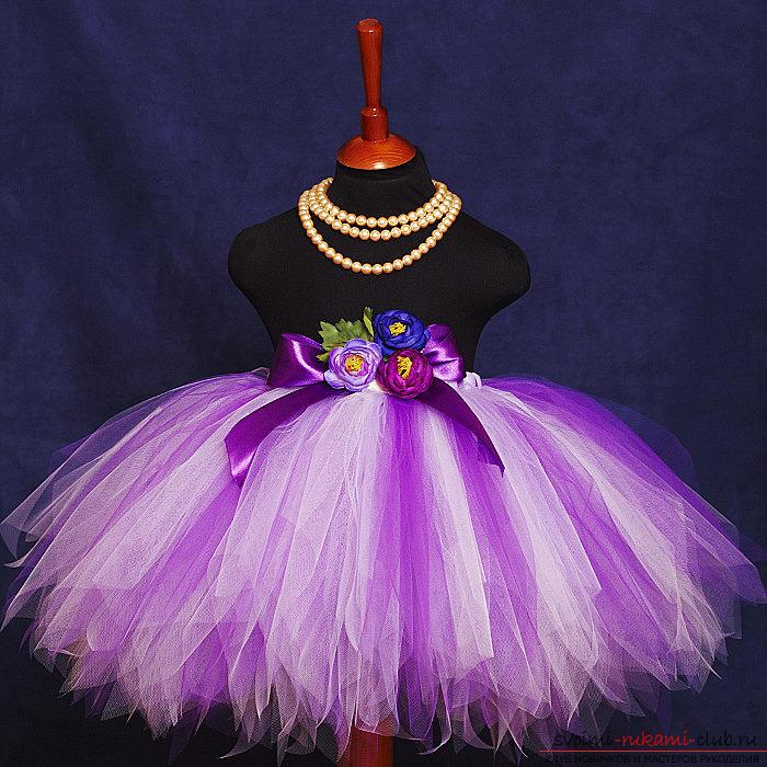 Платье на праздник для девочки своими руками