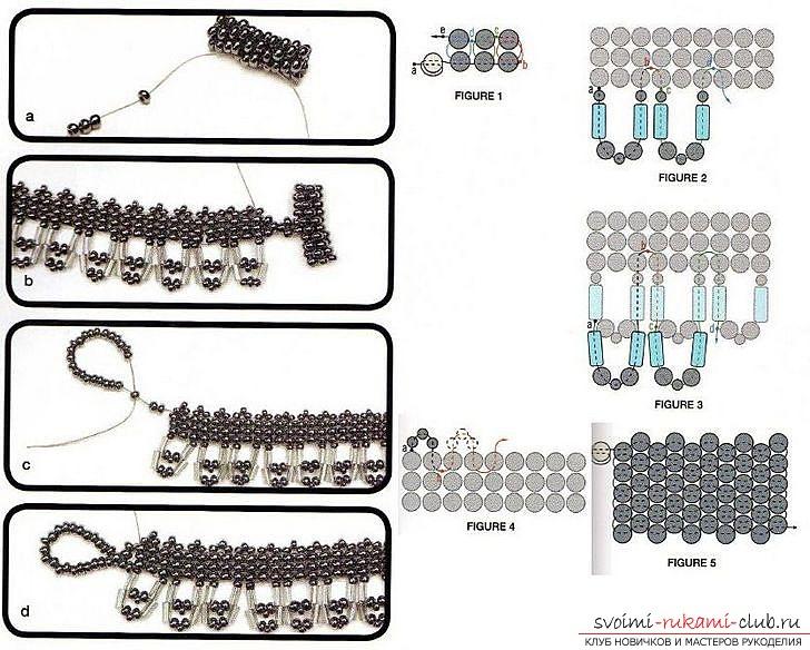 Различные схемы плетения колье из бисера. Украшения на шею, созданные при помощи разных способов бисероплетения.. Фото №10