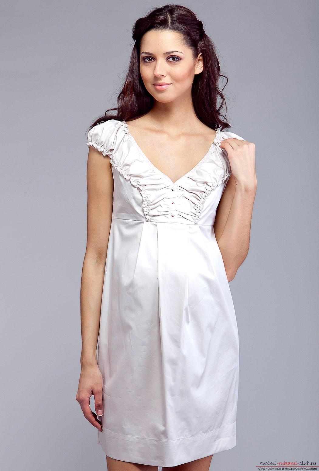 Шитье платье для беременных