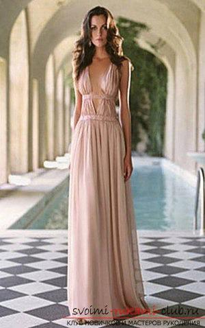 Как совершить греческое платье своими руками с выкройкой и без выкройки? Советы и фотографии