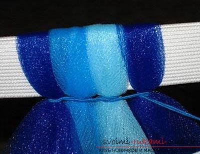 Делаем платье из фатина для девочки на праздник: Волшебное и цветное. Фото №4