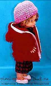 Одежда для пупсов своими руками, которую можно выполнить, сшив или связав. Фото кукольной одежды и выкройки для ее изготовления. Схемы для вязания одежды для кукол.. Фото №10