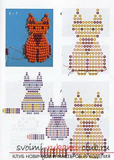 Виды разных игрушек из бисера со схемами плетения. Варианты схем плетения бисером игрушек с помощью разнообразных техник.. Фото №8
